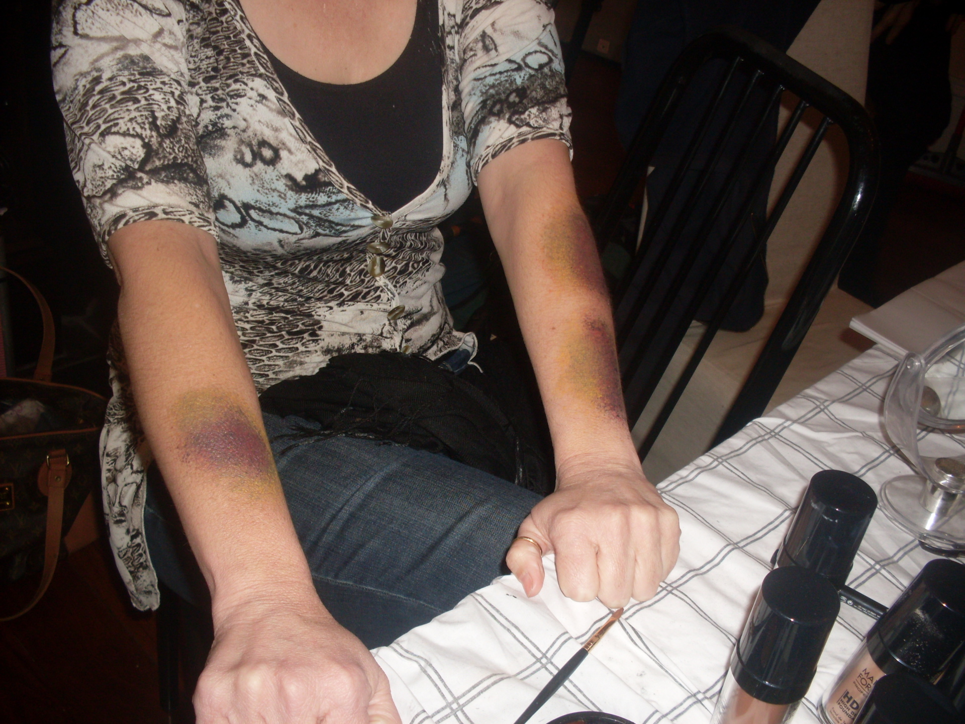 bruises makeup movies special effects SFX Ann-Marina Perth
